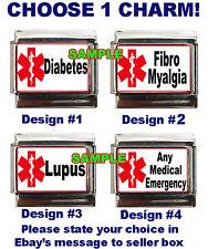 Lupus, Diabetic, Fibromyalgia Medical Emergency Custom Italian Charm, Name yours