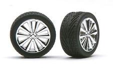 Pegasus 1250 x 1/24-1/25 Bellas Chrome Rims w/Tires (4)