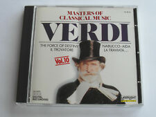 Masters Of Classical Music Verdi - Vol. 10 (CD Album 2008) Used Very Good