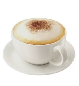 Large Jumbo Sized Tea Coffee Cappuccino Cups Mugs & Saucers 475ml White