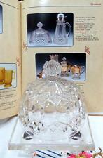 """EAPG IMPERIAL GLASS THREE IN ONE AKA FANCY DIAMONDS CLEAR 5 1/2"""" BUTTER DISH LID"""
