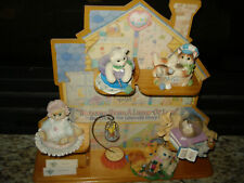 Enesco 1996 Calico Kittens Welcome Home Display And 6 Loose Kittens Near Mint