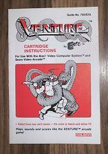 Atari ~ Venture Manual ~ Manual Only