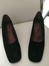 Kenzo, escarpins à bouts carrés, daim noir, taille 36,5