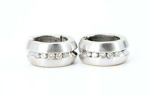 0,50 ct. Diamant Gold Ohrringe 585 Weißgold 14 K 10 Brillanten VS2 H-I 11,65g