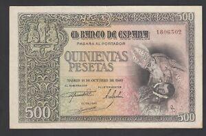 Spain 500 Pesetas 21-10-1940  VF  P. 124,    Banknote, Circulated