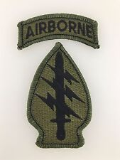 U.S. Army Vietnam War Special Forces cloth sleeve patch with Airborne tab