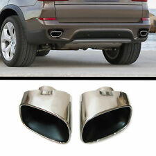 2x for BMW X5 E70 Sport Chrome Exhaust End Pipe Tailpipe Steel Tuning