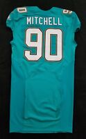 #90 Earl Mitchell of Dolphins NFL Locker Room Game Issued Jersey w50th Patch