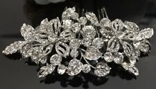 USA Seller wedding bridal crystal rhinestone silver tone hair comb 07081728