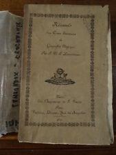 Lamouroux, Résumé d'un cours élémentaire de géographie physique 1821