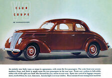 1937 Ford V-8 Club Coupe - Promotional Advertising Poster