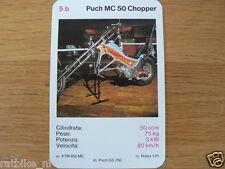 EASY RIDER 5B PUCH MC50 CHOPPER KWARTET KAART, QUARTETT CARD,SPIELKARTE