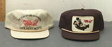 2 Vintage Grasshopper Lawn Mower Trucker Caps Baseball Hats Advertising.