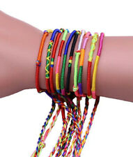 10pc Hand Woven Braided Thread Friendship Bracelets Party Favours Gift festival