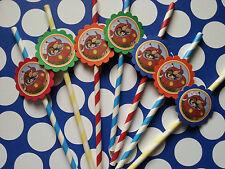 24 Little Einsteins straws party favors, goodie bag fillers, tableware