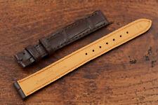 Watch Strap Service Jaejer-Lecoultre Dark Brown Lady 14mm Alligator Veritable