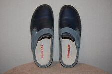 Womens ZUMFOOT 'Siranda' Adjustable Blue Leather Clog/Mules/Shoes 38M GREAT!!