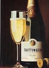 PUBLICITE ADVERTISING  1981    TAITTINGER  champagne BRUT de REIMS