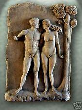Adam & Eve relief plaque art stone relief sculpture wall home decor tile