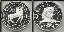 REPUBBLICA ITALIANA 10000 LIRE 1996 50° ANNIVERSARIO DELLA REPUBBLICA PROOF