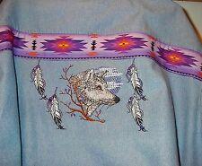 Native American Wolf denim shirt