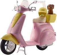Mattel Barbie Roller in rosa und Gelb mit Hund und Helm DVX56 NEU OVP
