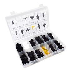 250Pcs Car Body Fender Bumper Retainer Fastener Clip Kits Black/White/Yellow