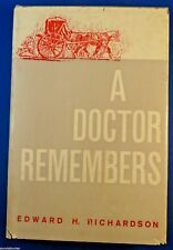 A DOCTOR REMEMBERS Farmville VA History Johns Hopkins Med School Baltimore Book