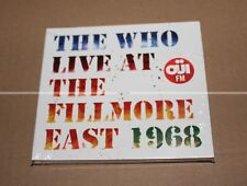 THE WHO - LIVE AT THE FILLMORE EAST 1968 - DIGIPACK 2 CDs - NEUF