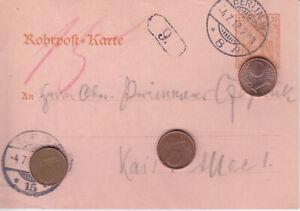 Ak Rohrpost Karte Ganzsache Deutsches Reich Berlin gelaufen 1912