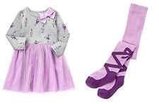 NWT GYMBOREE Size 4T Prima Ballerina Dress Lavender &  Thighs 4/5 Outfit