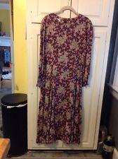 Laura Ashley , Rayon , Floral L/S Maxi Dress , Petite 12