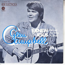 GLEN CAMPBELL I Knew Jesus (Before He Was A Star) PICTURE SLEEVE 45 record NEW