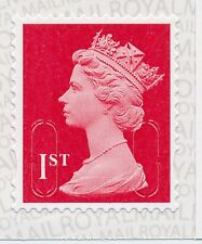 "2016 ""M16L"" ""MSIL"" 1st Class DEEP Red MACHIN SBP1 - Single Stamp fm Book of 6"