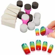 1Set Nail Art Sponge Stamp Stamper Shade Transfer Template Polish Manicure Tool
