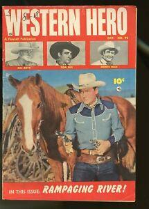 WESTERN HERO #95 VERY GOOD- 3.5 TOM MIX / MONTE HALE / BILL BOYD 1950 FAWCETT