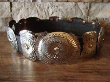 Native American Jewelry Nickel Silver Concho Belt - Carson Blackgoat