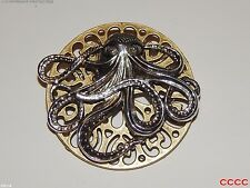 Steampunk broche badge Pieuvre Kraken Pirate Assassin's creed Black Sails Larp
