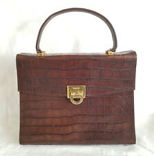 VINTAGE BALMAIN PARIS coccodrillo in rilievo Tote Bag