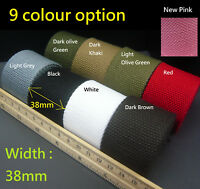 "38mm 1.5"" Spun Polyester Webbing - DIY Cotton Canvas Bag strap/belt Making Craft"