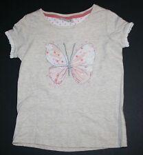 Siguiente NUEVO GB Marrón Lentejuelas Mariposa Camiseta Size 6 Year O 116cm
