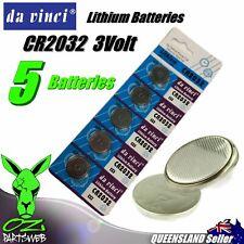 5 x CR2032 Lithium 3v Volt Coin Batteries Local Australia Stock FAST SHIPPING