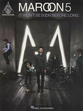 Maroon 5 It Won't Be Soon Before Long Guitar TAB Music Book Recorded Versions