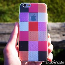MADE IN JAPAN ** Soft Clear TPU Case Plaid Matrix for iPhone 6 & iPhon