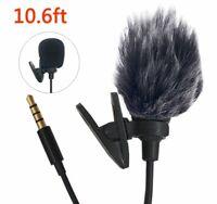 Microfono De Solapa Lavalier Microfono De Condensador Omnidireccional con Clip