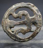 ANCIENT ROMAN MILITARY BRONZE FIBULA BROOCH 1ST-3RD CENTURY AD