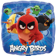 """ANGRY BIRDS BALLOON 17"""" MOVIE ANGRY BIRDS PARTY SUPPLIES ANAGRAM FOIL BALLOON"""
