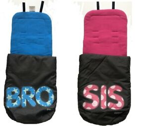 Brand new Cosatto Supa Dupa 2 in 1 Footmuff and Liner in Sis & Bro 3