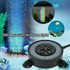 LED Aquarium Underwater Light Air Bubble Stone Multi Color For Fish Tank Round